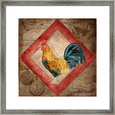 Le Coq - At The Rising Sun Framed Print by Audrey Jeanne Roberts