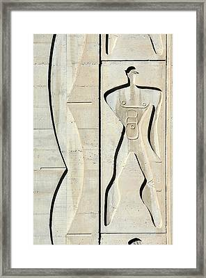 Le Corbusier Design Framed Print by Chris Hellier