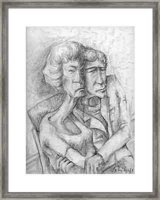 Le Couple Framed Print
