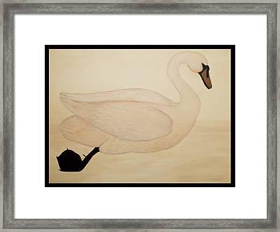 Le Cygne Framed Print by Carrie Jackson