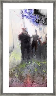 Le Depart Framed Print by Freddy Kirsheh