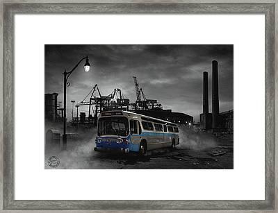 Le Dernier Arret Framed Print by Mirage Noir