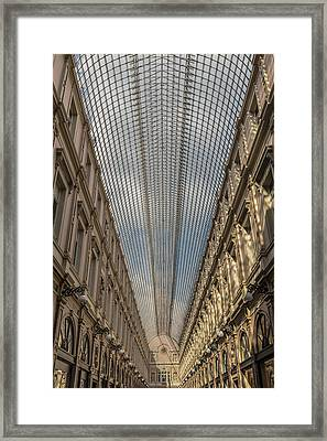 Les Galeries Royales Saint-hubert Framed Print by Chris Fletcher
