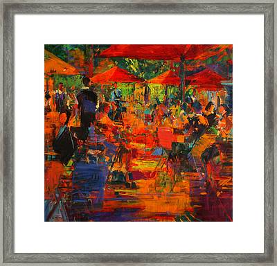 Le Grand Cafe Framed Print