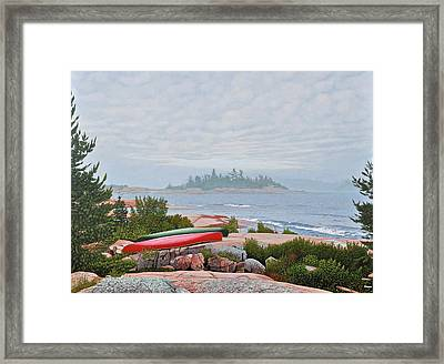 Le Hayes Island Framed Print