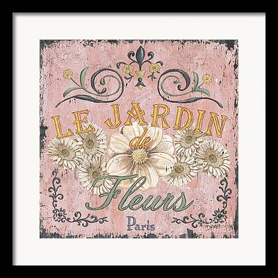 French Signs Framed Prints