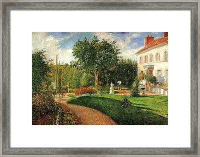 Le Jardin Des Mathurins Pontoise Framed Print by Camille Pisssarro