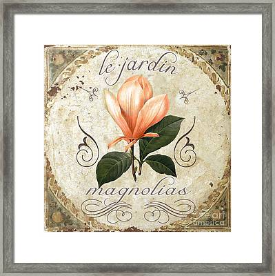 Le Jardin Magnolias Framed Print by Mindy Sommers