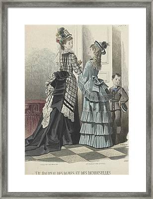 Le Journal Des Dames Et Des Demoiselles Framed Print by A Bodin