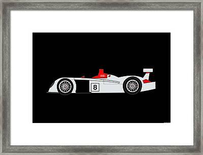 Le Mans Audi R8 Framed Print by Asbjorn Lonvig