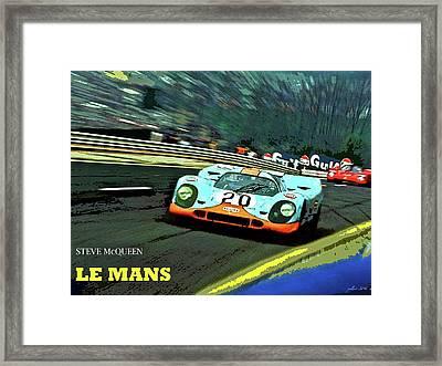 Le Mans, Steve Mcqueen Framed Print