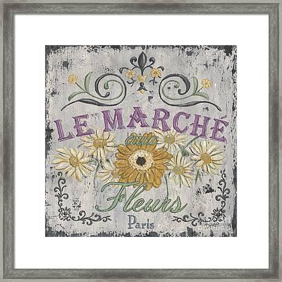 Le Marche Aux Fleurs 1 Framed Print
