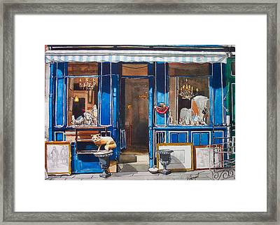 Le Marche Aux Puces Framed Print by Victoria Heryet