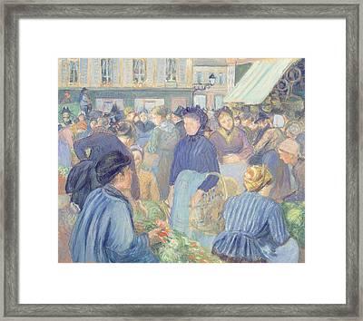 Le Marche De Gisors Framed Print by Camille Pissarro