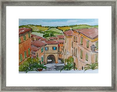 Le Marche, Italy Framed Print by Janet Butler