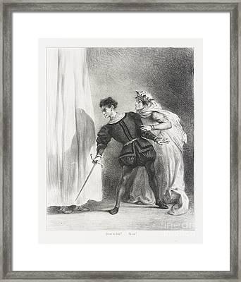 Le Meurtre De Polonius Framed Print