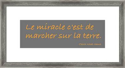 Framed Print featuring the digital art Le Miracle by Julie Niemela