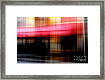 Le Mistral Cafe Framed Print by John Rizzuto