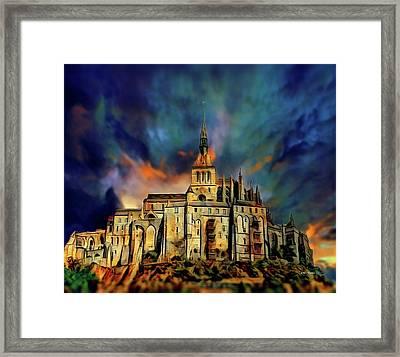 Le Mont-saint-michel Framed Print by Russ Harris