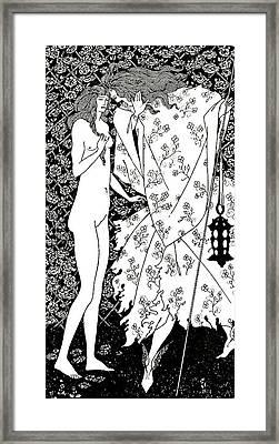 Le Mysterieux Jardin De La Rose Framed Print by Aubrey Beardsley