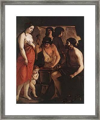 Le Nain Louis Venus At The Forge Of Vulcan Framed Print