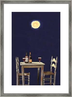Le Ombre Della Luna Framed Print by Guido Borelli