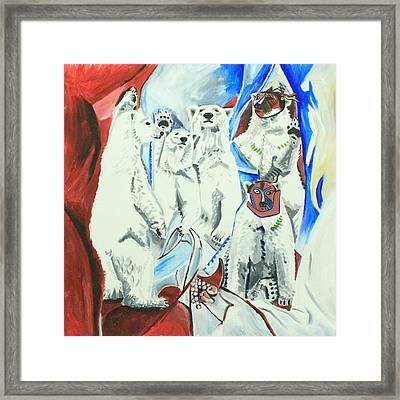 Le Ours Polaires D'avignon Framed Print by Eric Gibbons