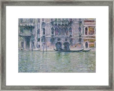 Le Palais Da Mula Framed Print by Claude Monet