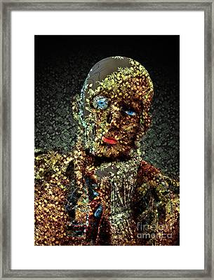 Framed Print featuring the digital art Le Penseur  by Aimelle