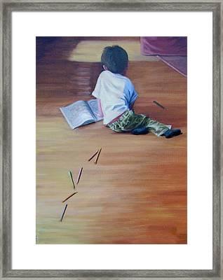 Le Petit Artiste Framed Print by Tahirih Goffic