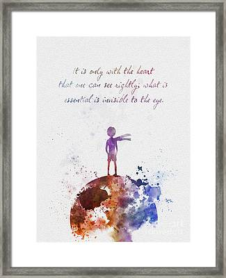 Le Petit Prince Framed Print by Rebecca Jenkins