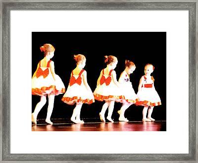 Le Petite Ballet Framed Print by Margie Avellino