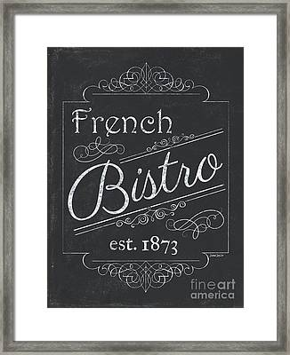Framed Print featuring the painting Le Petite Bistro 4 by Debbie DeWitt