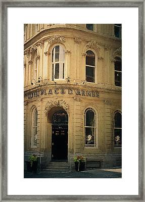 Le Place D' Armes Hotel  Framed Print by Maria Angelica Maira