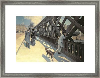 Le Pont De L'europe Framed Print by Gustave Caillebotte