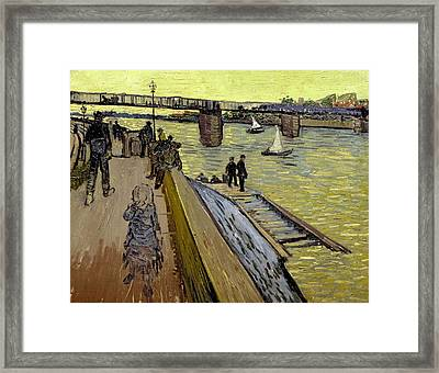 Le Pont De Trinquetaille In Arles Framed Print by Vincent Van Gogh