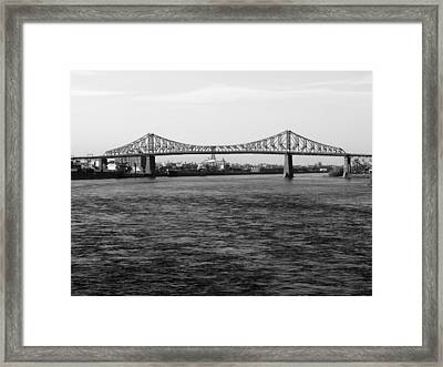 Le Pont Jacques Cartier Framed Print by Robert Knight