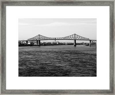 Le Pont Jacques Cartier Framed Print