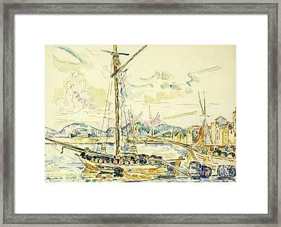 Le Port De Saint Tropez Framed Print