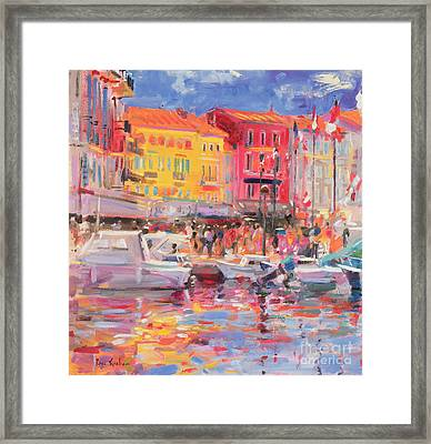 Le Port De St Tropez Framed Print by Peter Graham