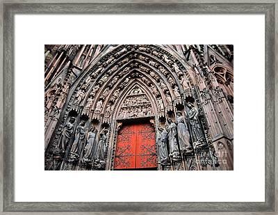 Le Portail Rouge De Salutation Framed Print by Chris Brewington Photography LLC