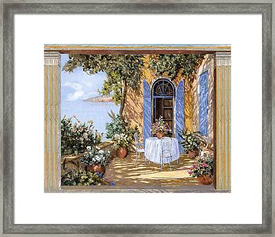 Le Porte Blu Framed Print by Guido Borelli