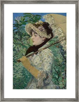 Le Printemps Framed Print by Edouard Manet
