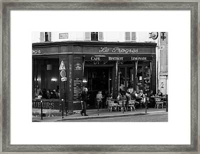 Le Progres Framed Print by Pati Photography
