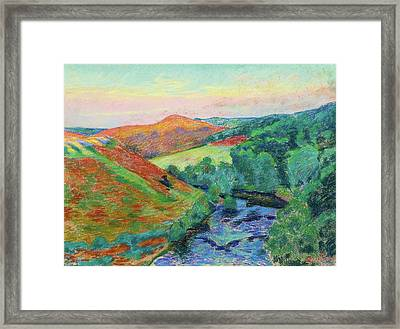 Le Puy Barriou Landscape Of The Creuse. Framed Print by Armand Guillaumin