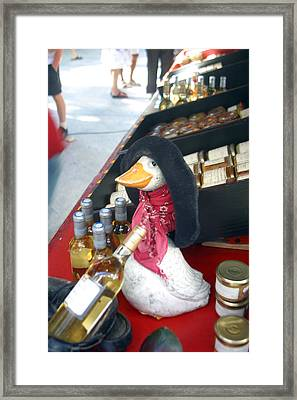 Le Quack Framed Print by Jez C Self