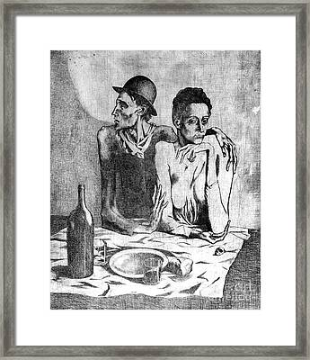 Le Repas Frugal Framed Print by Pg Reproductions