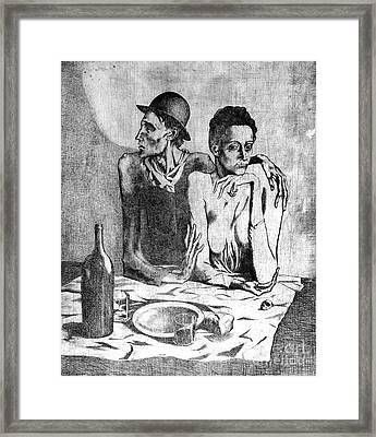 Le Repas Frugal Framed Print