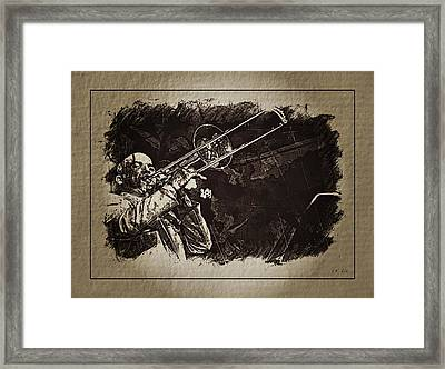 Le Roi Du Trombone  Framed Print
