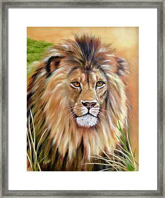 Le Roi-the King, Tribute To Cecil The Lion   Framed Print